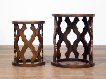 Carved Side Table-B カーブドサイドテーブル[asri アスリ-]【TBAUX-28B】